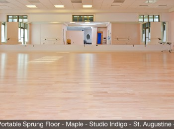 EFS Portable Sprung Floor-Maple-Studio-Indigo-St.-Augustine-Fla